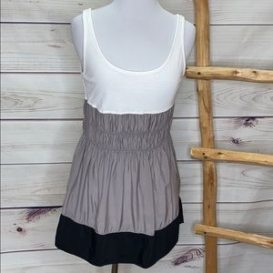 Equipe Color Block Babydoll Tank Top Large